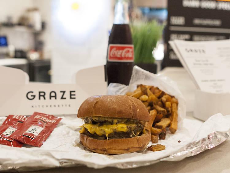 Burger at Graze Kitchenette