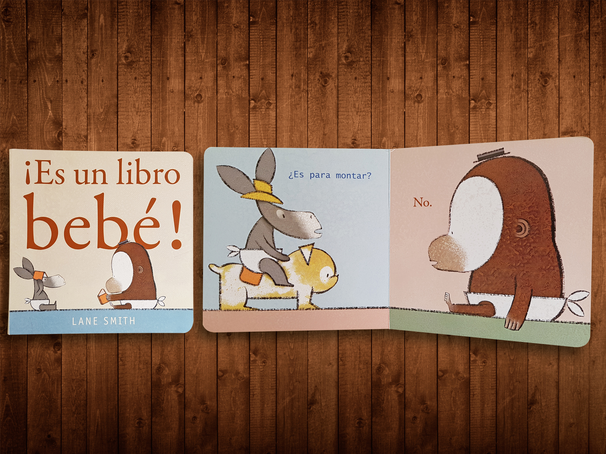 ¡Es un libro bebé!, de Lane Smith