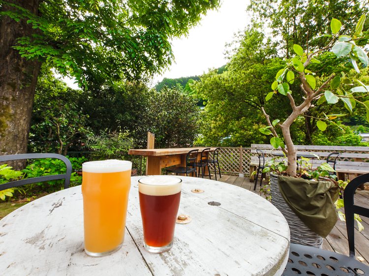 Sip on a perfectly chilled craft beer in nature