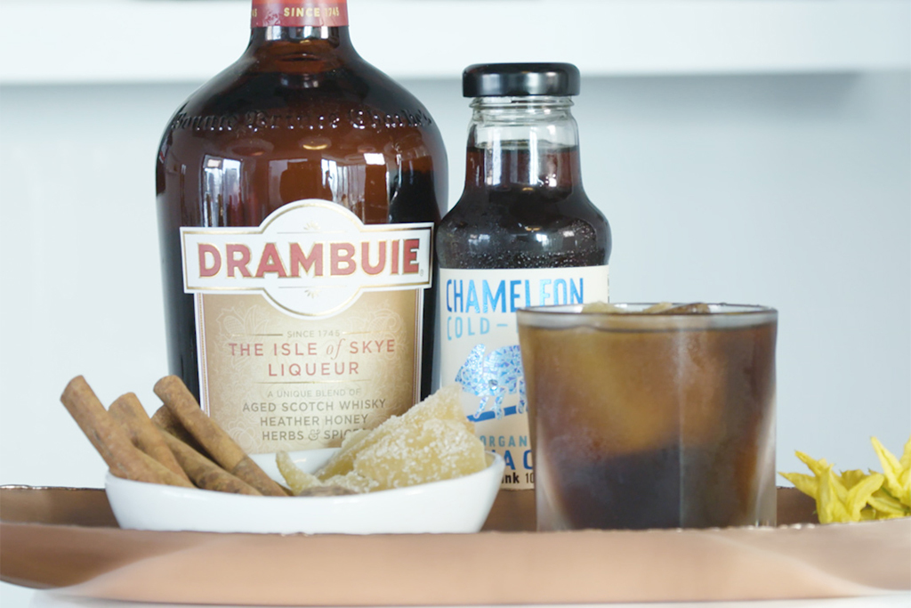 Level up your Drambuie-Chameleon Cold Brew drink