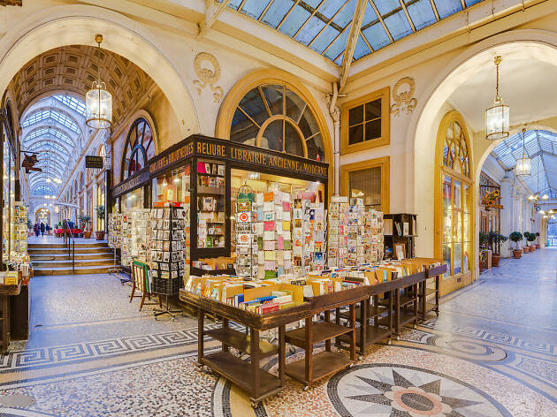 Looking down Galerie Vivienne, one of the passages couverts