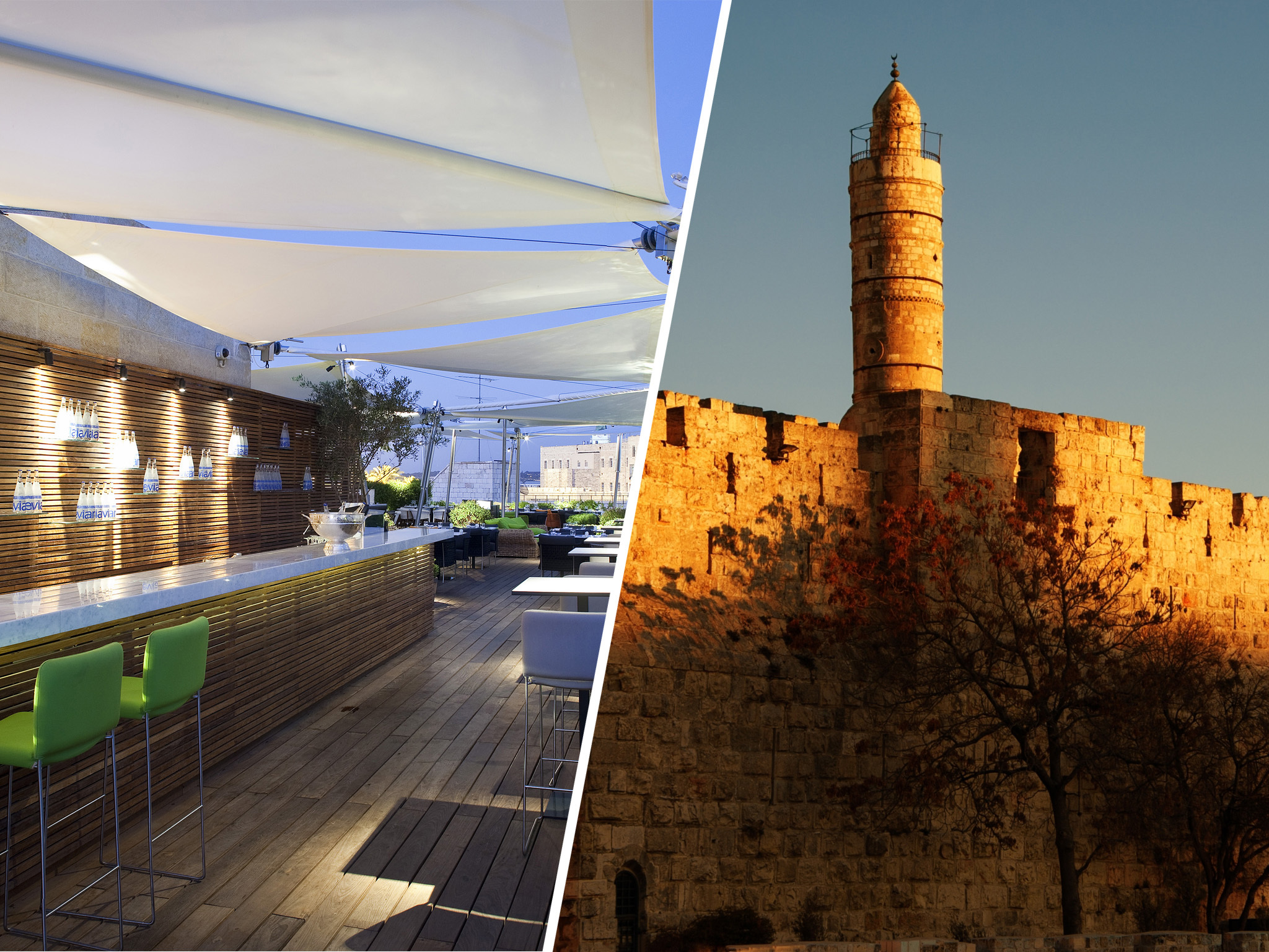 Rooftop (Mamilla Hotel) & Tower of David