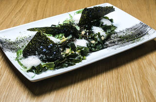 salada de algas do rabo d'pêxe