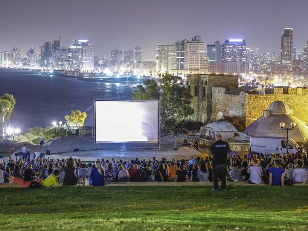 Outdoor film screenings in Jaffa