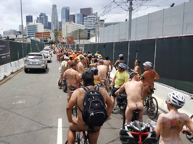 World Naked Bike Ride Los Angeles 2017 photos