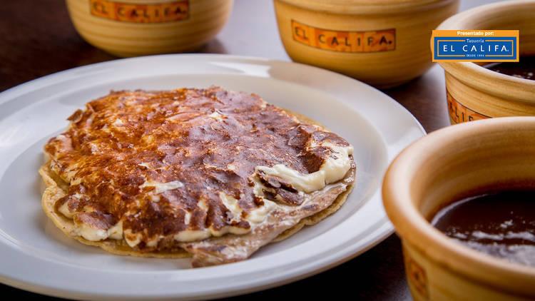 Taco gaona's de El Califa en la CDMX
