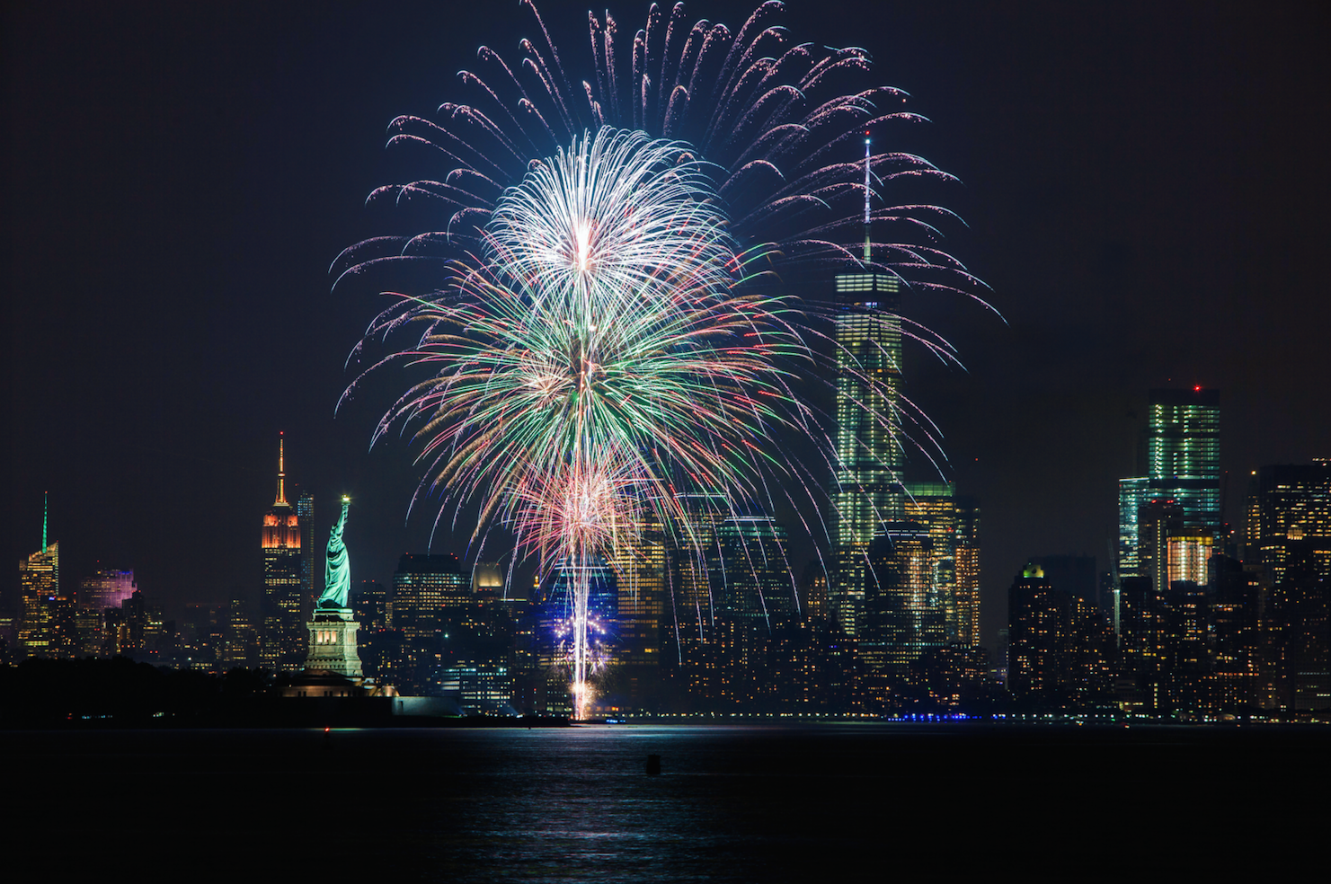 places to view fireworks in nyc