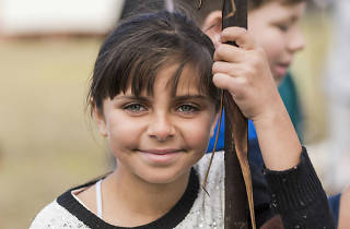 Young girl at Songlines, NAIDOC Week