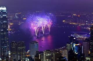 Fireworks in Victoria Harbour
