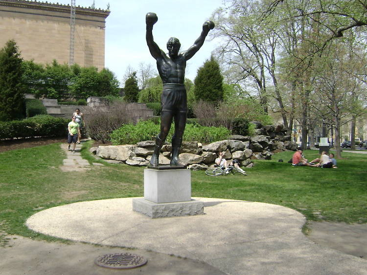 The Rocky Statue and the Rocky Steps