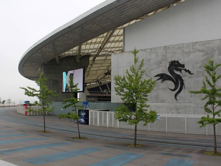 O Estádio do Dragão imortalizou o jogo de inauguração