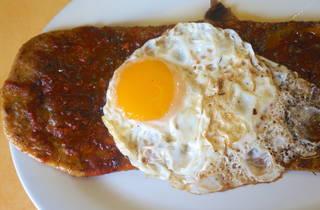 Huarache con huevo (Foto: Pablo Mata)