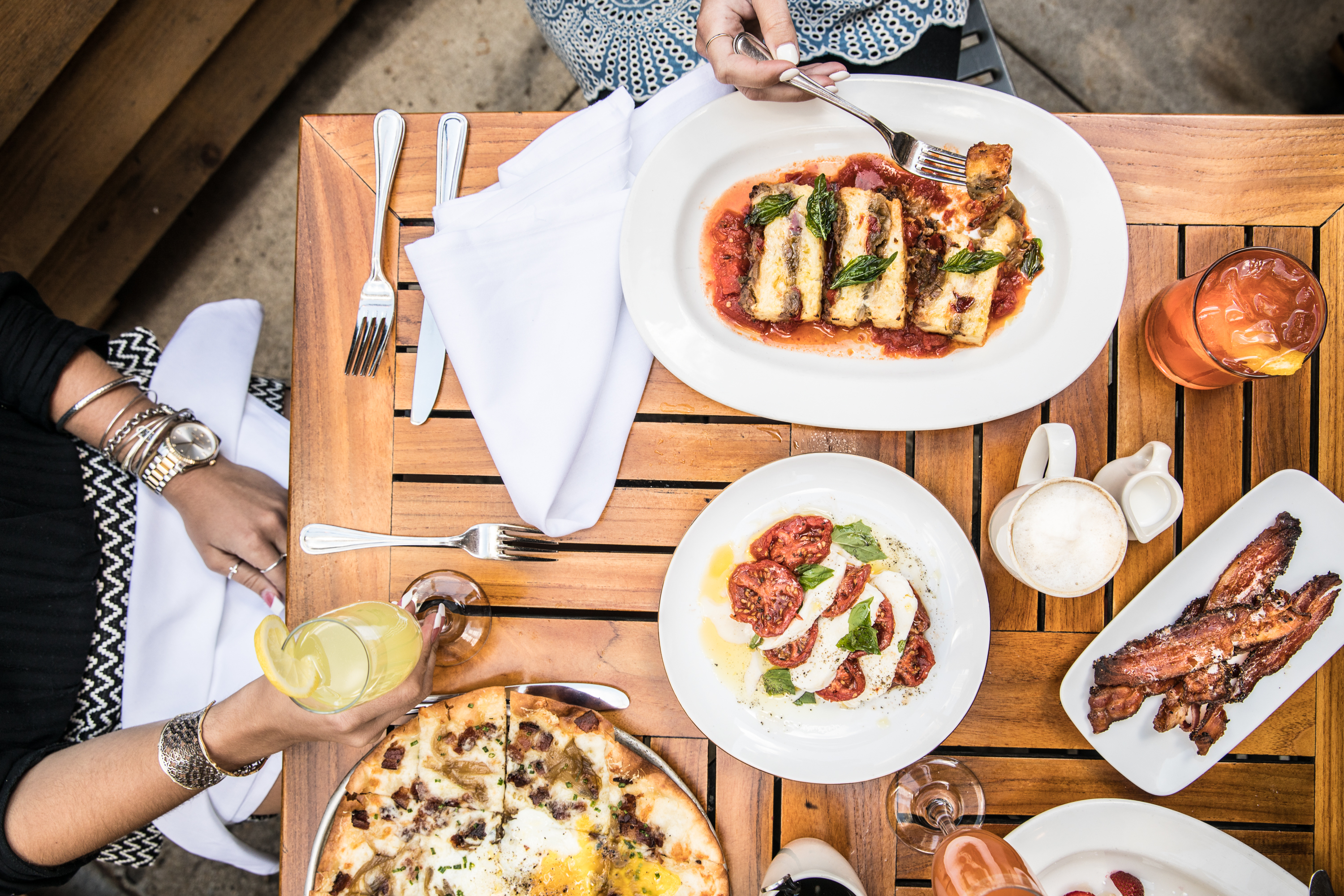 Where to eat brunch outside in Chicago