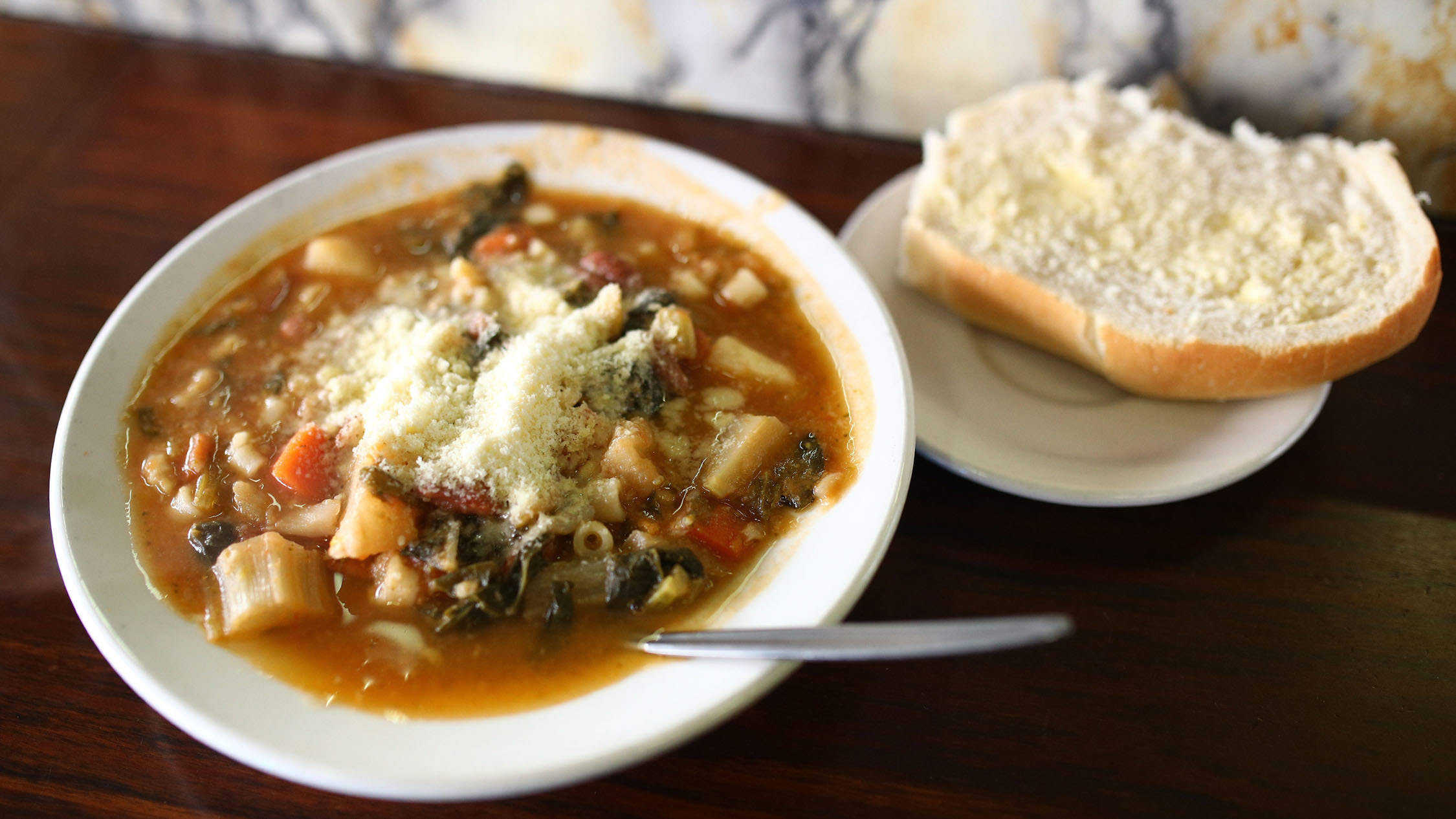 Minestrone at Pellegrini's