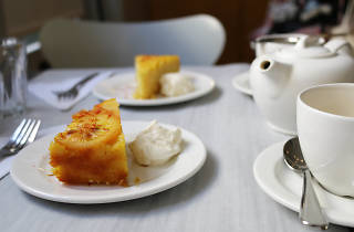Orange macadamia cake in London Review Cake Shop