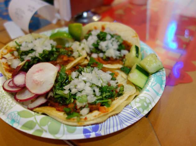 Al pastor taco at Tacos el Chilango