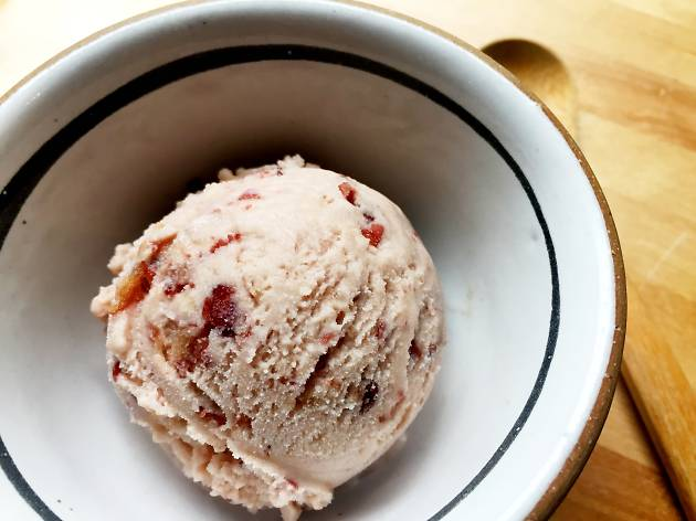 Red-bean–coconut sorbet at Bessou