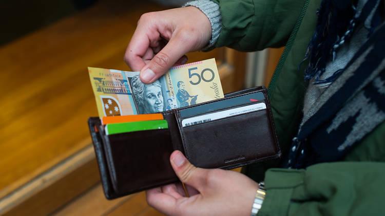 50 dollar note in wallet