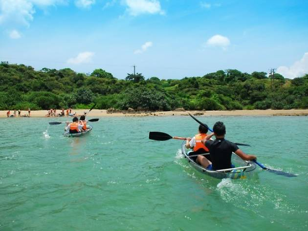 Standup paddleboarding and kayaking