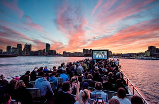 Movies on the River launched on the Thames last night with a screening of 'Jaws'