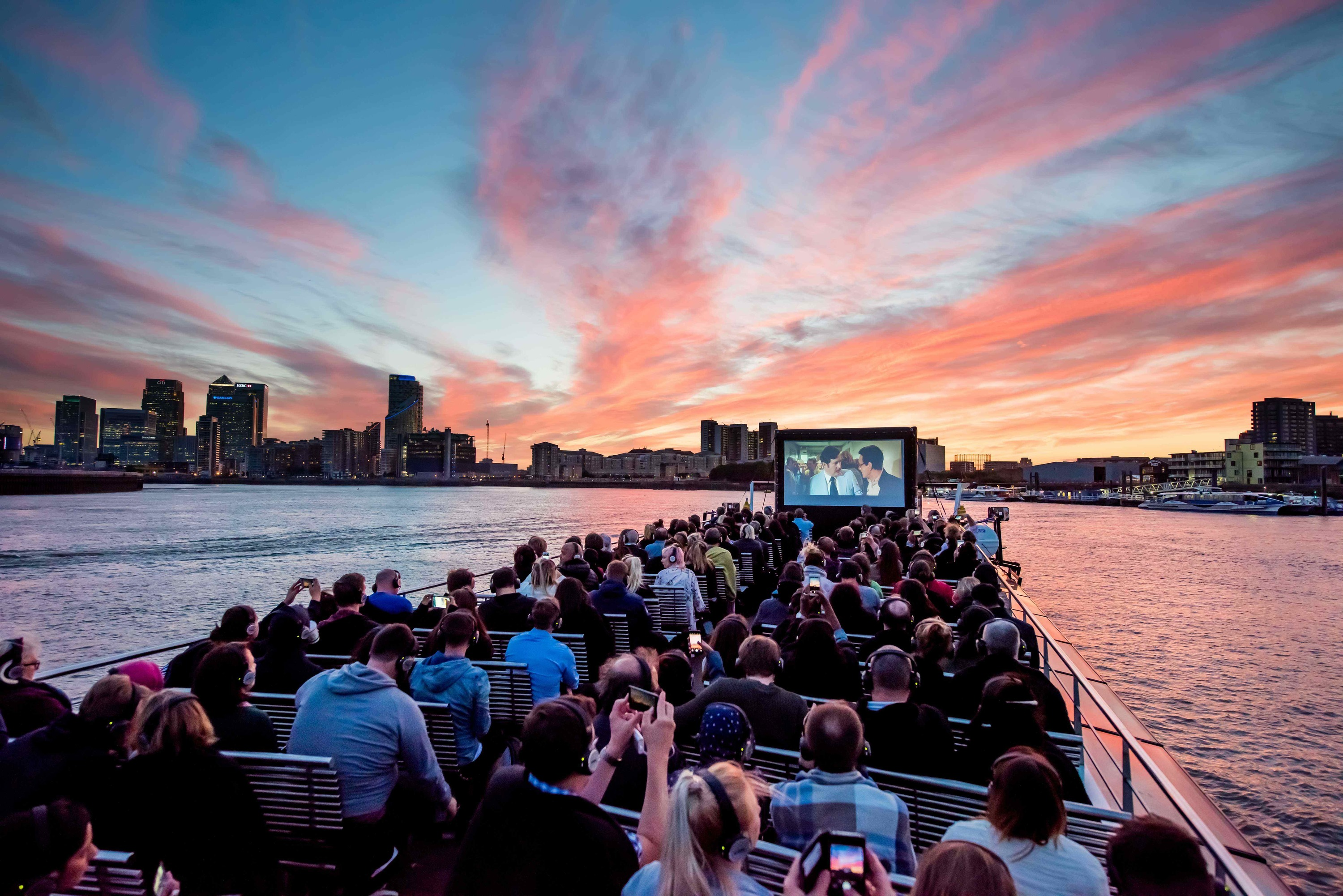Outdoor cinema in London