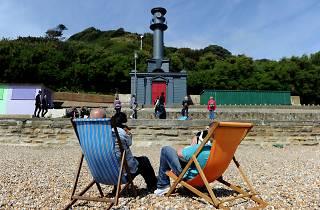 Art around Folkestone. Pablo Bronstein 'Beach Hut in the style of Nicholas Hawksmoor'