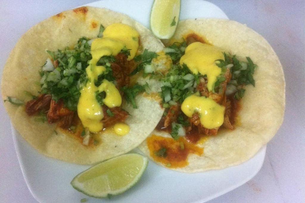 Cochinita pibil taco at Rincon Mexicano