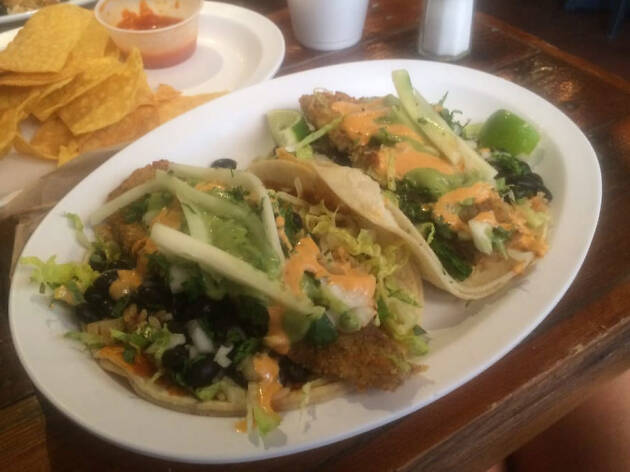 Pescado taco at Tenoch
