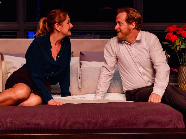 I Love You Now 2017 Darlinghurst Theatre Company production still 01 feat Jeanette Cronin and Paul Gleeson photographer credit Robert Catto