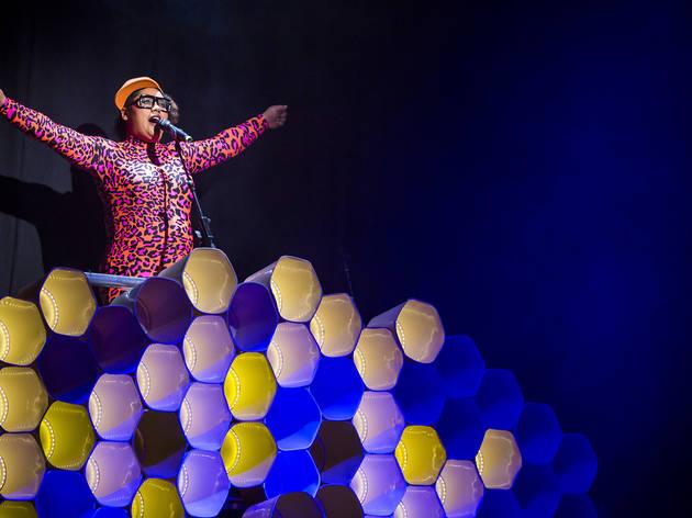 Hot Brown Honey 2016 Sydney Opera House production still feat Kim Busty Beatz Bowers photographer credit Anna Kucera