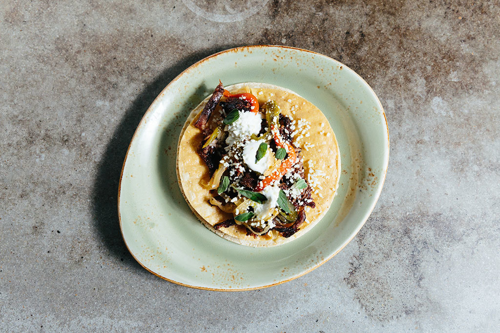 Short rib taco at Burro Bar