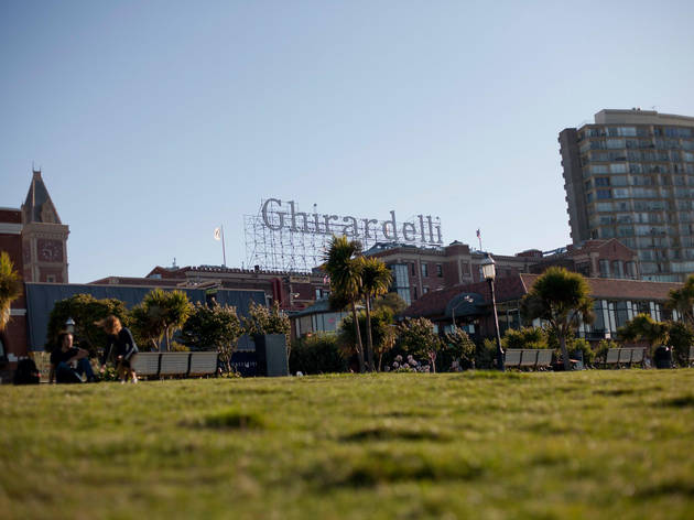 A new beer garden opens in Ghirardelli Square