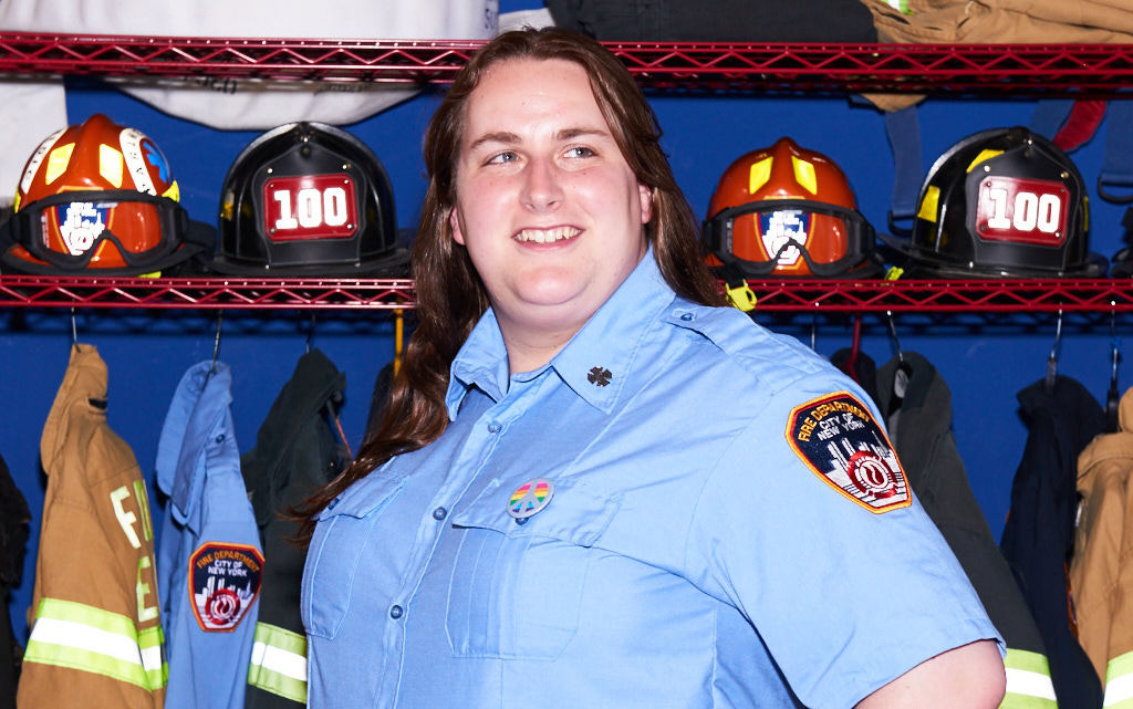 Trans firefighter Brooke Guinan is ready to lead this year's NYC Pride March