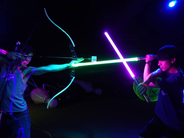 Pick up lightsaber skills