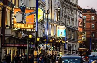 West End theatres on Shaftesbury Avenue