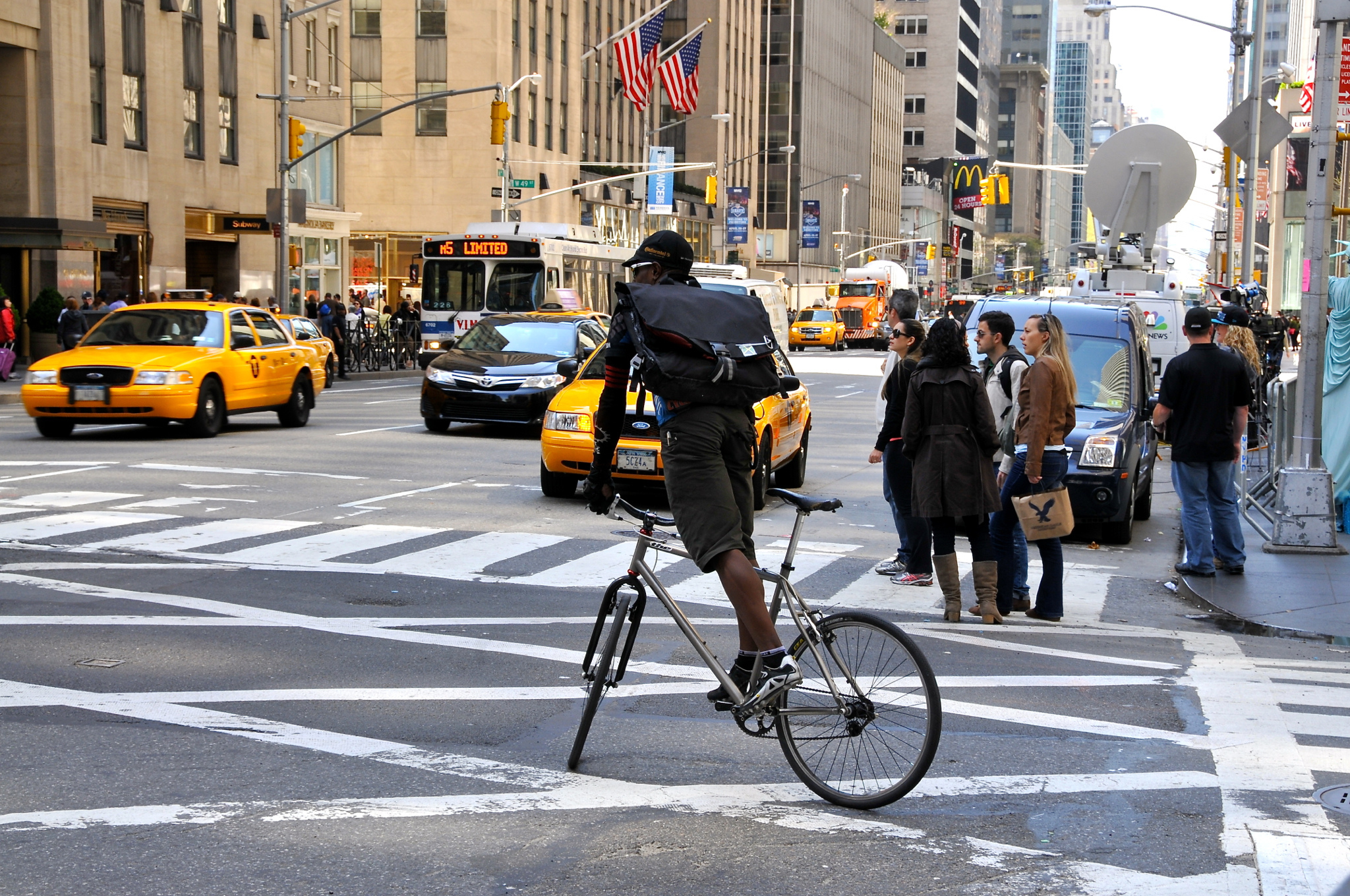 It's faster to bike in NYC than it is to take a cab during rush hour