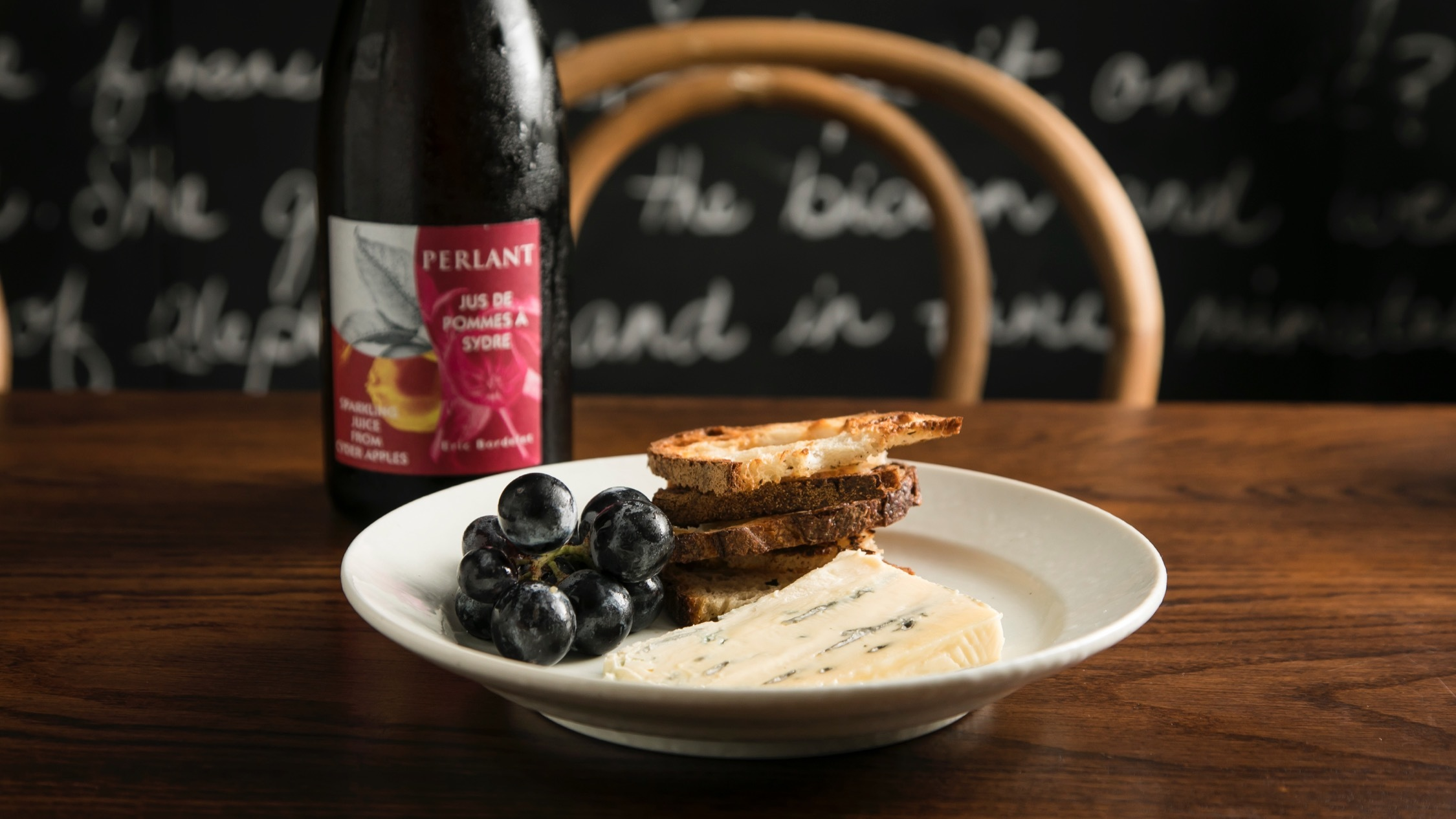 Cheese, grapes and toast at Dear Sainte Eloise