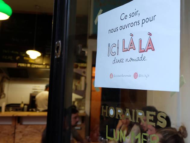 Ici là là lance à Paris le concept de dîner nomade