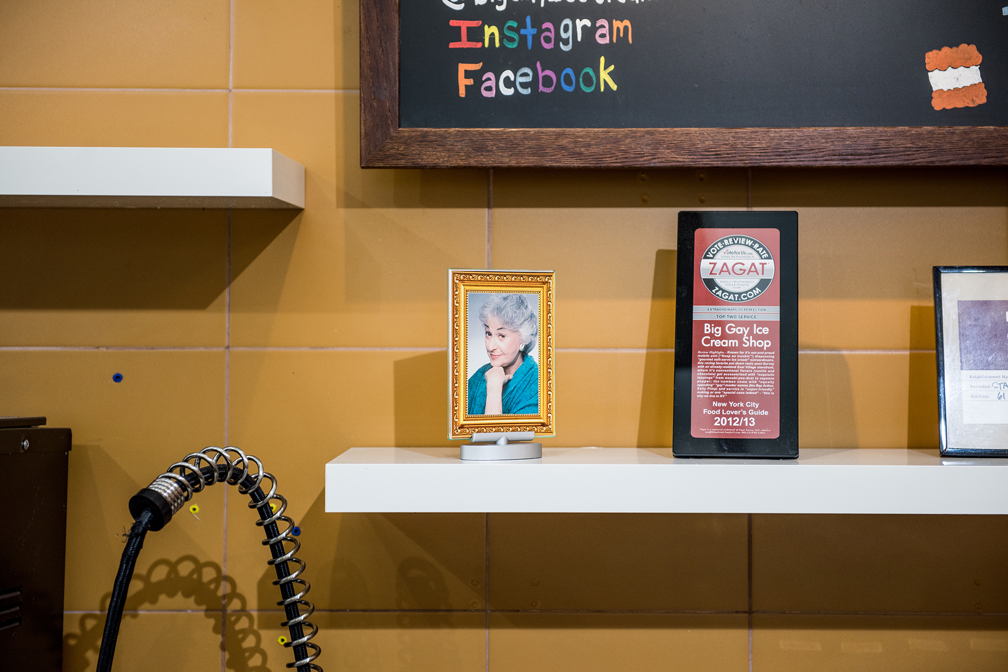 Bea Arthur portrait at Big Gay Ice Cream Shop