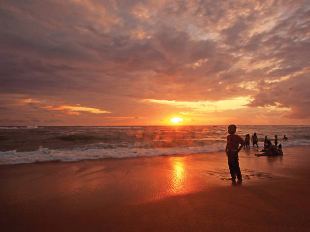 Magical sunsets at Galle Face