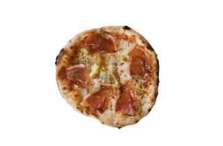 pizza figo e presunto do come prima