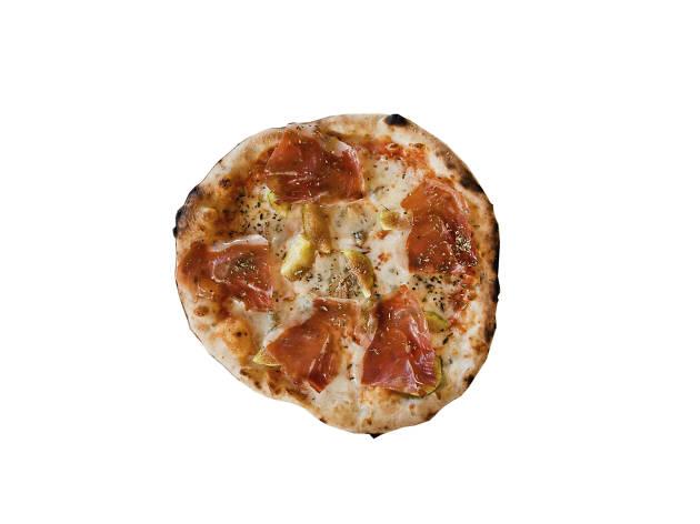 Pizza de figos e presunto