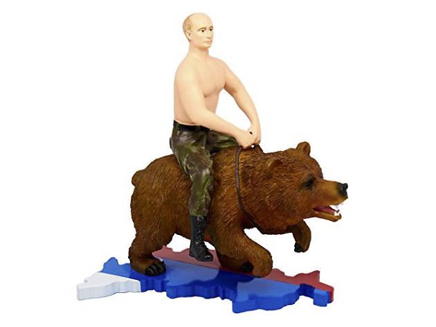 Weird Amazon: Putin On Bear figurine
