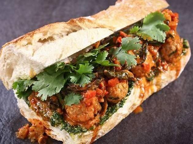 Fish Kebab Sandwich - Sandwich
