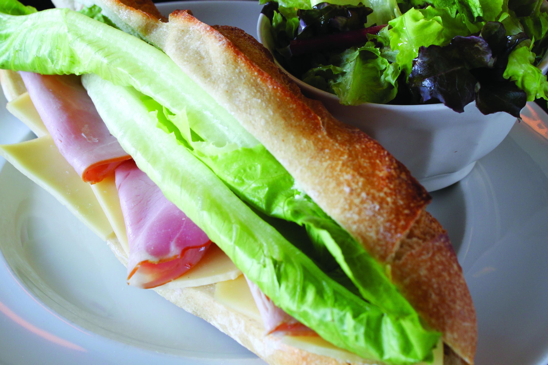 Jambon and Emmental Cheese Club Sandwich - Brasserie