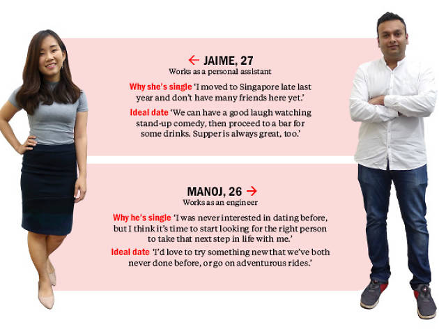 Find me a date: Manoj and Jaime