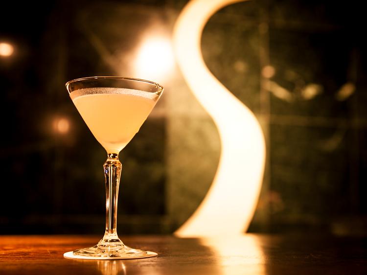 ...a fancy bar