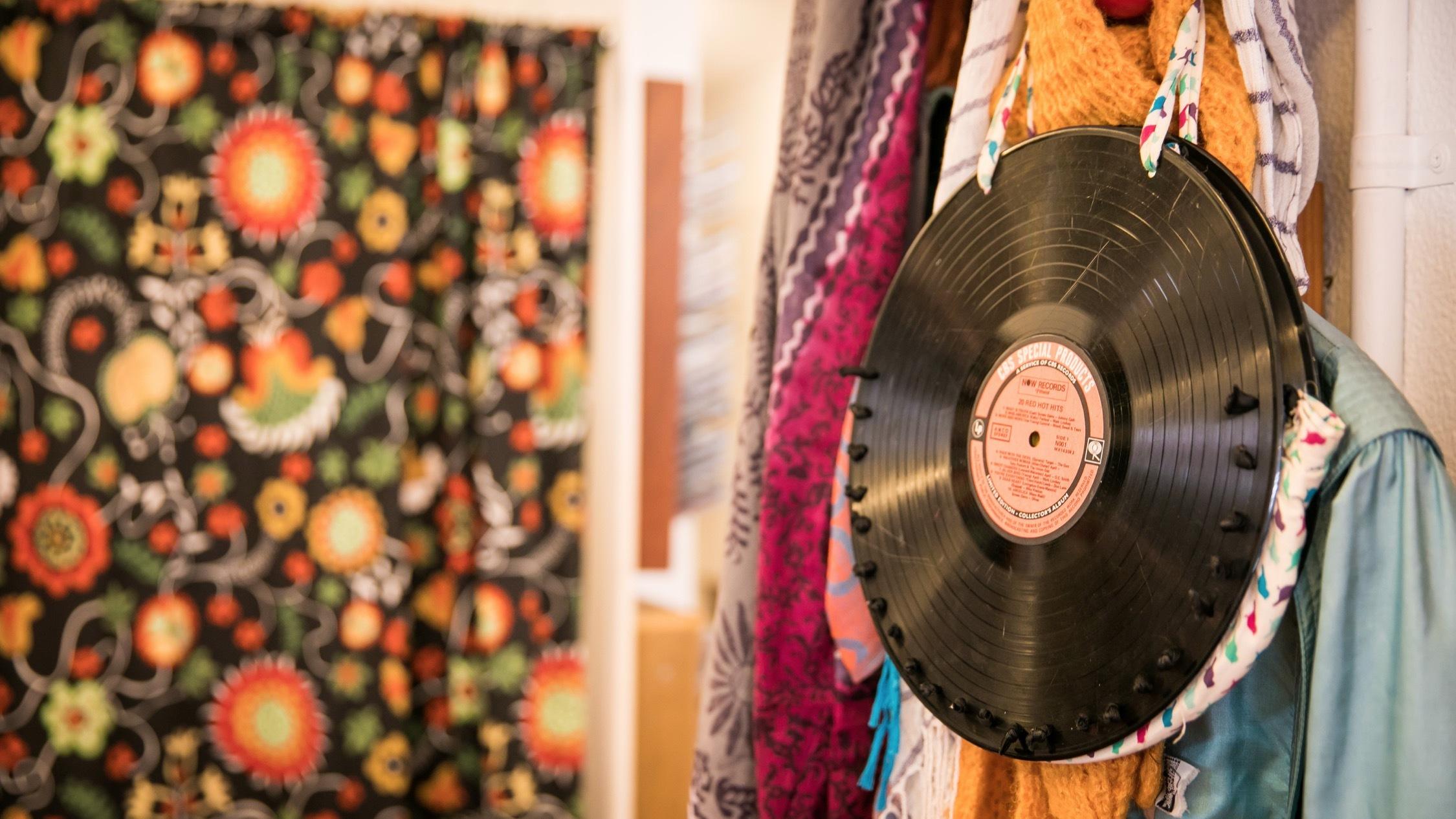 Vinyl record bag at Wayside Op Shop Potts Point