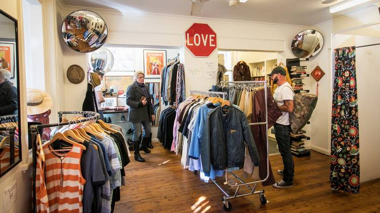 Store interior at Wayside Op Shop Potts Point
