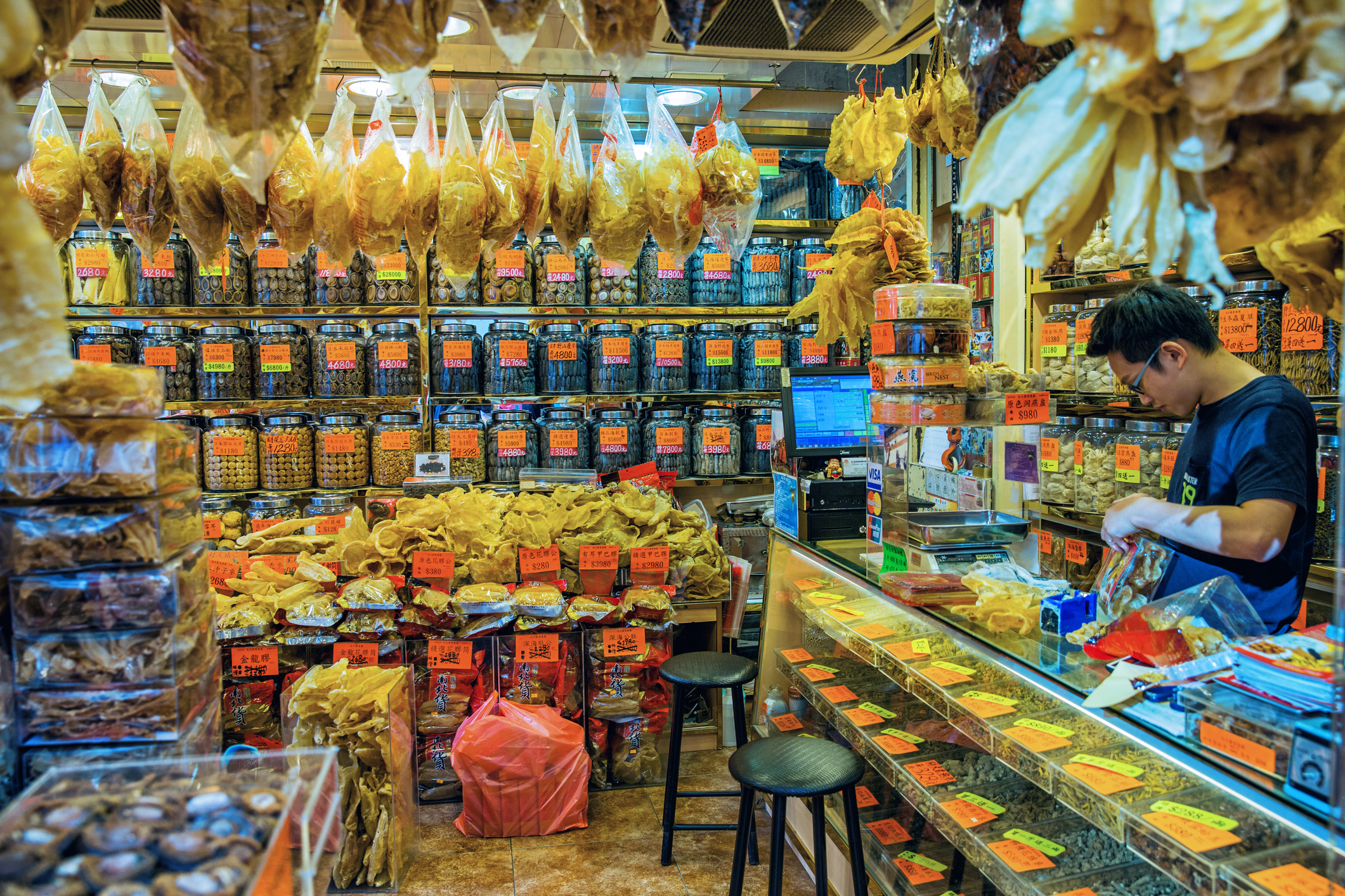 Dried seafood store on Des Voeux Road West